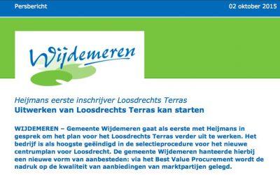 Loosdrecht terras tender gewonnen door Heijmans Vastgoed